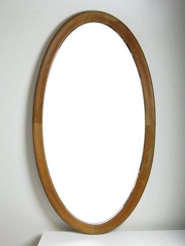 ovalt spejl Ovalt retro spejl i ramme af massivt fyretræ | ebuy.dk ovalt spejl