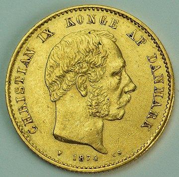 Christian Ix 20 Kr Guld 1874 H 8a Den Sjaeldne Ebuy Dk