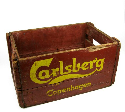 Gamle ølkasser antikviteter