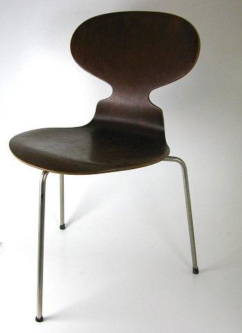 arne jacobsen stol myren Arne Jacobsen, tidlig *Myren* stol af teaktræ | ebuy.dk arne jacobsen stol myren